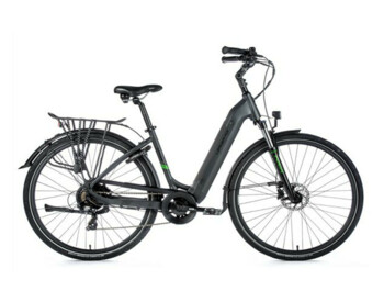 Modern city e-bike with aluminum frame, elegant design and integrated frame battery with powerful SAMSUNG cells. The Bafang engine excels in its above-average performance.