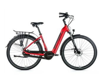 "City e-bike with an elegant design, 8-speed integrated Shimano Nexus derailleur, sprung front fork and 28"" wheel size.