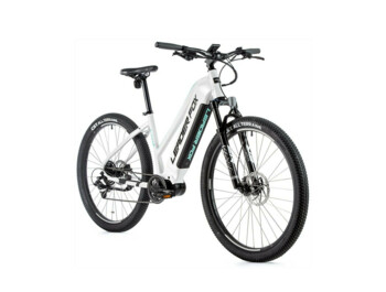 "Top news 2021! Women's mountain e-bike with a powerful Bafang M300 motor, integrated 540 Wh battery, LCD display with push-button control, sprung fork and 29"" wheel size.