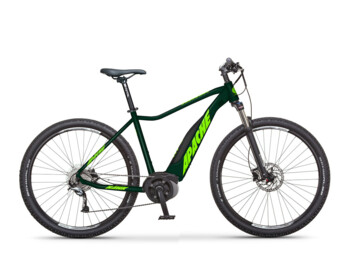 The frame of the Hawk model has a semi-integrated battery with a capacity of 500 Wh. 