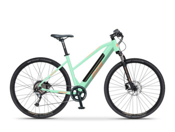 Women's high-quality and fashionable e-bike Matta E7 with an integrated battery, which slims the overall silhouette. 