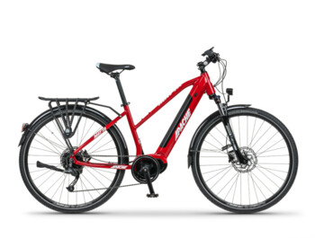 The Matta Tour MX3 e-bike is equipped with fenders, a carrier with a load capacity of 25 kg, a stand and LED lighting.