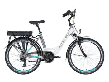 Economical city electric bicycle with rear-wheel drive.