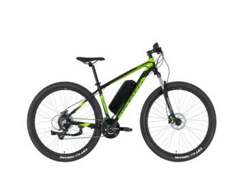 Hardtail mountain e-bike with rear motor. 