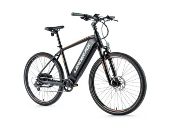 "New for the 2021 season. Cross-country e-bike with a very nice sports design. It is equipped with disc brakes, 28"" wheels, rear Bafang engine, quick charger and LCD display located on the handlebars.