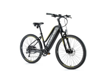 Cross-country e-bike with aluminum frame, sporty design and Bafang rear engine. A novelty is a fully integrated battery with a capacity of 540 Wh.