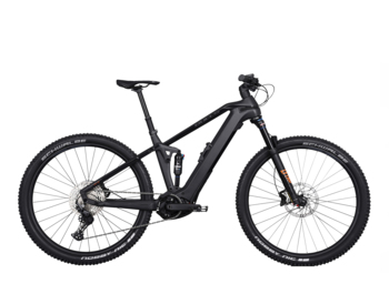 Carbon all-suspension mountain e-bike with Bosch Performance Line CX 4th generation motor, 625 Wh battery and unique Monkey Link system. The ideal e-bike for sports enthusiasts.