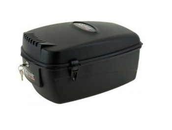 Plastic, M-Wave lockable case for any rear carrier of your bike.