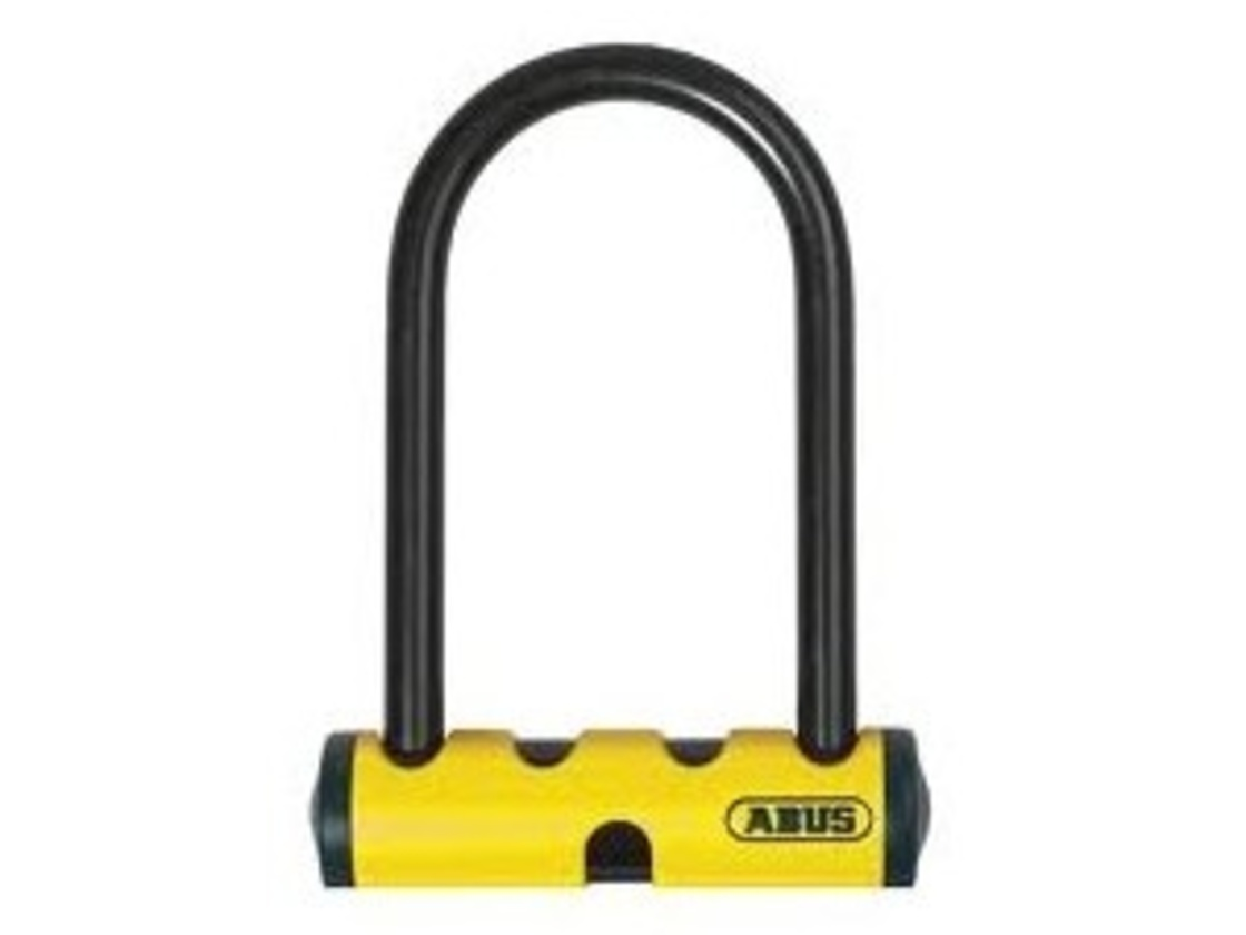ABUS U-MINI 40 padlock in yellow color.
