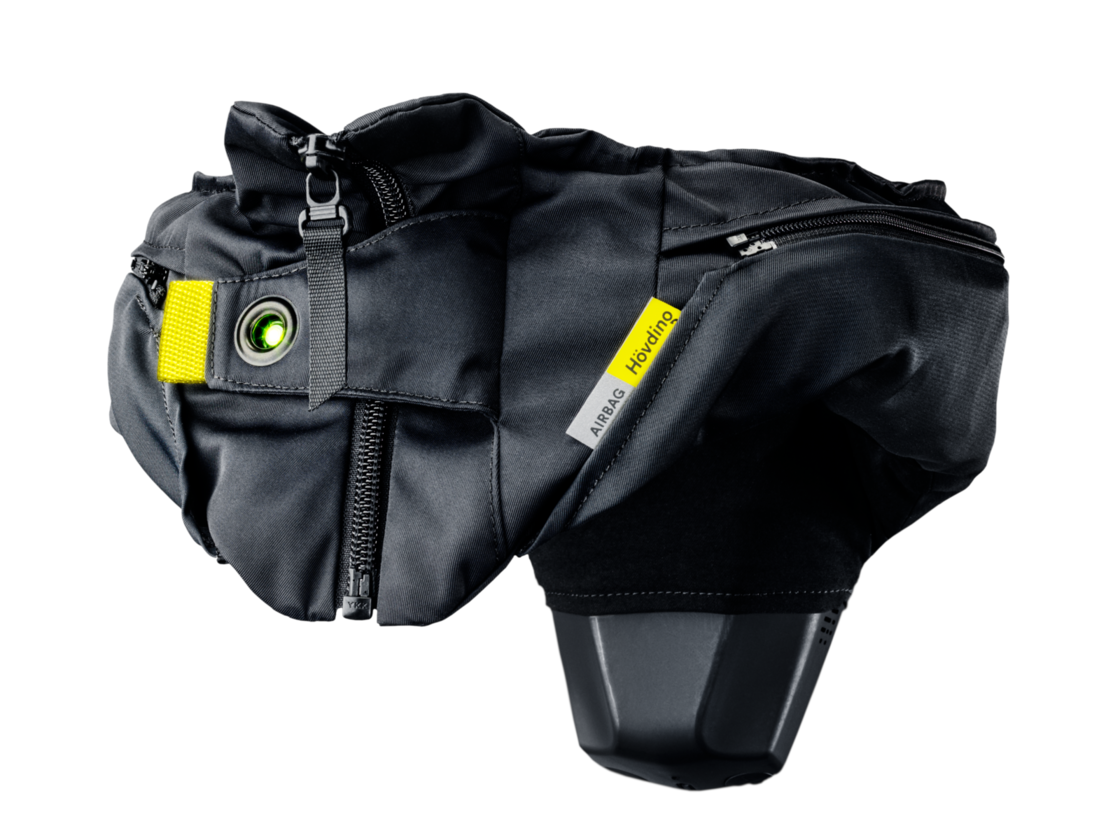 Hövding - airbag for urban cycling. 8x safer than a traditional helmet.