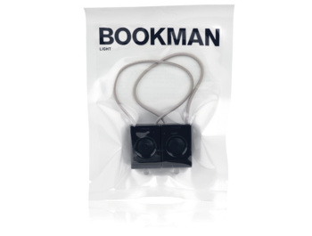 Set of front and rear designer flashlights from the Swedish Bookman brand